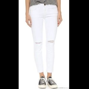 Current/Elliott Stiletto Skinny Distressed Jeans